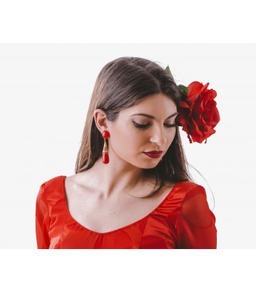 "flamenco earrings - - Earrings ""coral"" wrought"