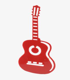 Spanish guitar Brooch - Acetate