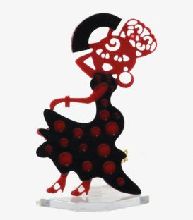 broches y alfileres - - Broche flamenca - Acetato