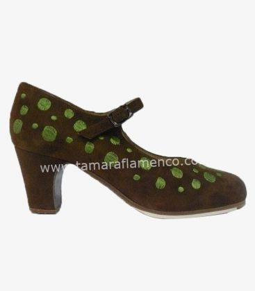 flamenco shoes professional for woman - Begoña Cervera - Topos Bordados (embroidered)