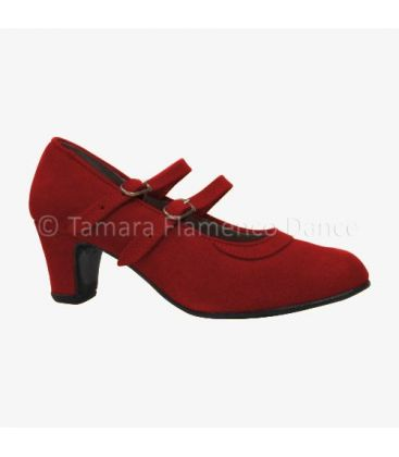 trainning flamenco shoes semiprofessional - - Semiprofessional Basic with 2 Straps - Suede