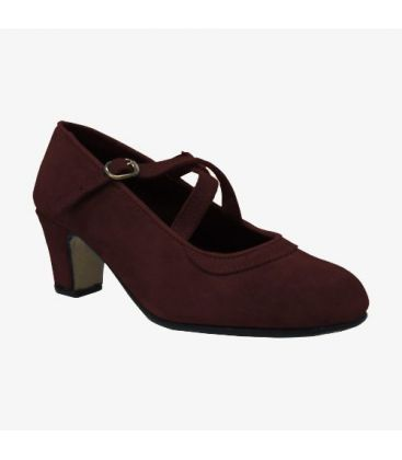 trainning flamenco shoes semiprofessional - - Semiprofessional Basic Crossed - Suede