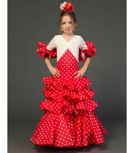 Flamenca dress Cristina girl polka dots
