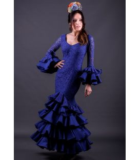 flamenca dresses 2018 for woman - Roal - Flamenca dress Estepona Blue lace