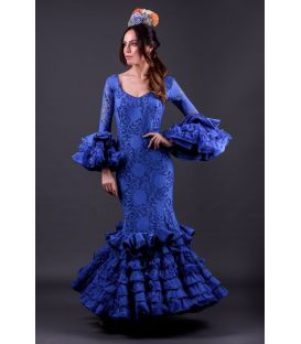 woman flamenco dresses 2019 - Roal - Flamenca dress Alhambra Azulina