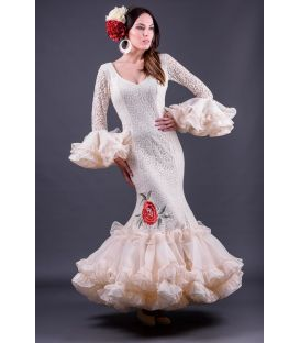 woman flamenco dresses 2019 - Roal - Flamenco dress Carla Bordado