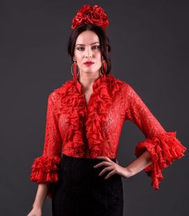 blouses and flamenco skirts - Roal - Coral ( blouse) Lace