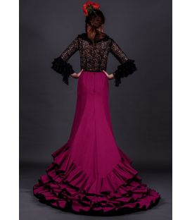 tailed gown bata de cola - Faldas de flamenco a medida / Custom flamenco skirts - Tailed Gown Professional - 4 flounces