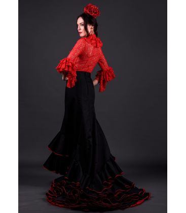 tailed gown bata de cola - - Basic Tailed Gown - 4 flounces