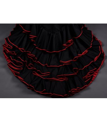 robe longue batas de cola - Faldas de flamenco a medida / Custom flamenco skirts - Robe longue basique - 4 volant