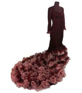 tailed gown bata de cola - Vestidos de flamenco a medida / Custom flamenco dresses - Dress with tailed Gown - Carmen Desing