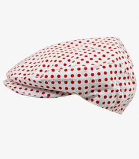 Country Cap - White with Red Polka-Dots