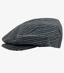 Country Cap - Grey with Black Lines