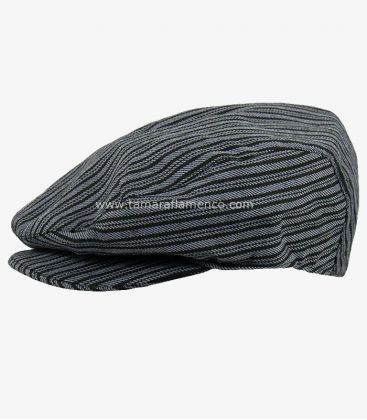country cap spanish andalusian - - Country Cap - Grey with Black Lines