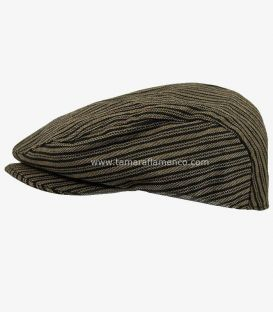 country cap spanish andalusian - - Country Cap - Brown with Black Lines