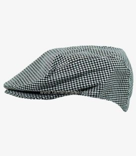 "Country Cap ""Pata de Gallo"" (black and white squares)"