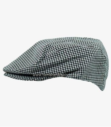 "country cap spanish andalusian - - Country Cap ""Pata de Gallo"" (black and white squares)"