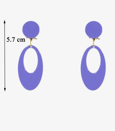 flamenco earrings - - Earrings 05 - Acetate