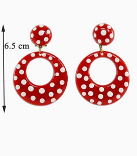 "Earrings ""argollas"" polka dots"