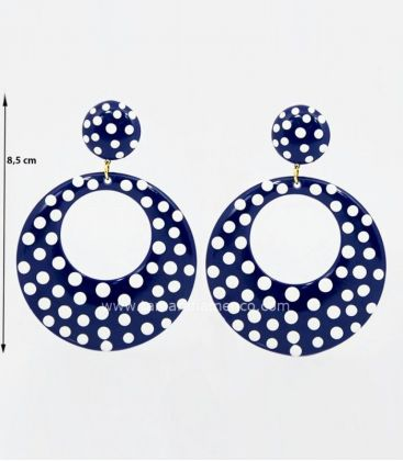 flamenco earrings - - Earrings polka dots super