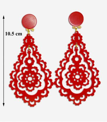 flamenco earrings - - Earrings 09 - Acetate