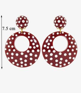 flamenco earrings - - BIG Earrings - Personalized Polka dots