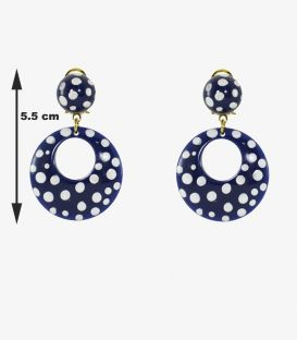flamenco earrings - - Little Earrings - Personalized Polka dots