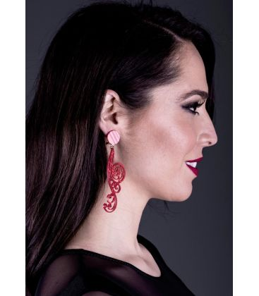 flamenco earrings - - Earrings 19 - Mother-of-pearl Stone