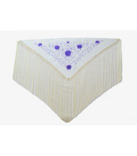 Shawl for woman Embroidered - 130x60cm