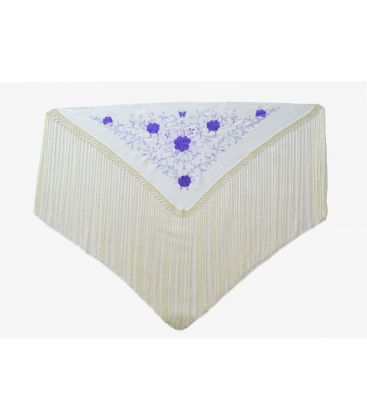 spanish shawls - - Shawl for woman Embroidered - 130x60cm