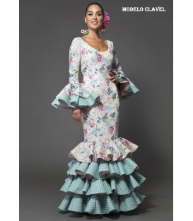 Robe de flamenca Clavel estampado