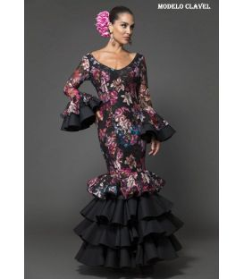 Flamenca dress Clavel flower lace