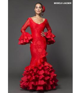 Flamenca dress Jazmin red lace