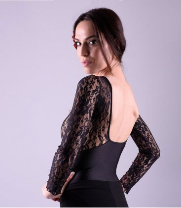 maillots bodys flamenco tops for woman - - Fandango flamenco Body - Lycra and lace