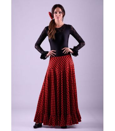 flamenco skirts for woman - - Sevillana with Polka dots - Knitted