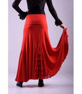 Almeria - Viscose with lace flounce (skirt-dress)