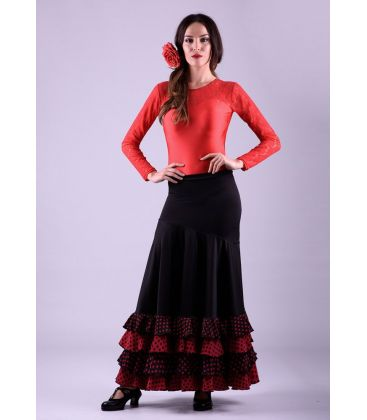 flamenco skirts for woman - - Cordoba polka dots - Knitted and koshivo