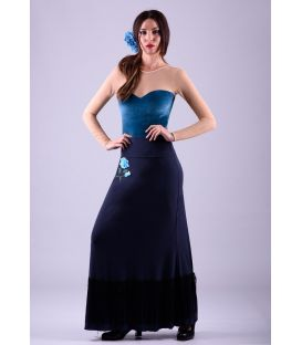 flamenco skirts for woman - - Marina Skirt - Viscose Fringes and Embroidery