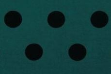 Green black polka dot